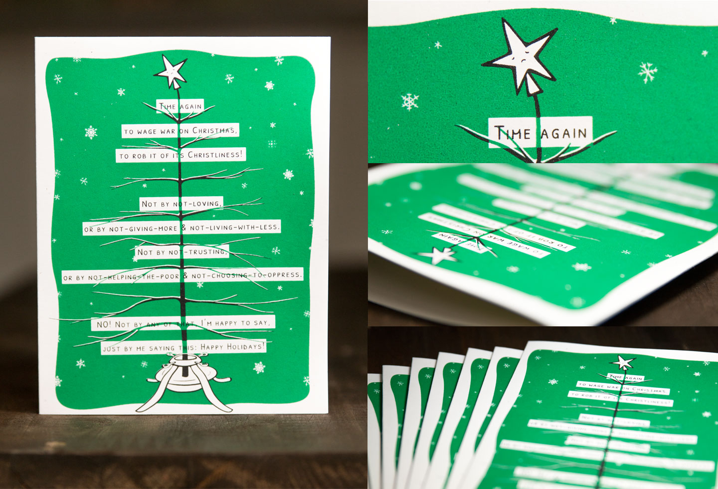 Happy Holidays Card by Sam Killermann - Socially Just Cards